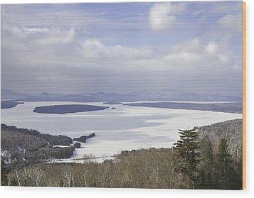 Rangeley Maine Winter Landscape Wood Print by Keith Webber Jr