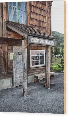 Wood Print featuring the photograph Ranger Station Mount Rainier National Park by Bob Noble Photography