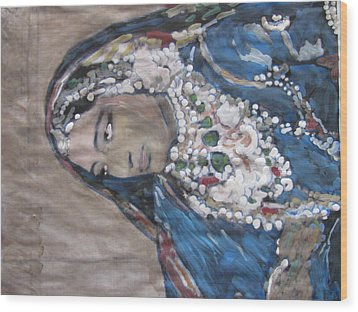 Wood Print featuring the painting Rani by Vikram Singh