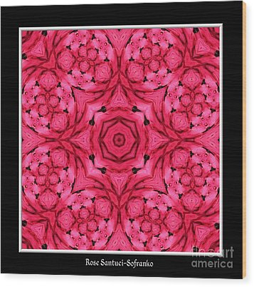 Wood Print featuring the photograph Ranunculus Flower Warp by Rose Santuci-Sofranko