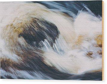 Rapids In Wilderness Wood Print by Ari Salmela