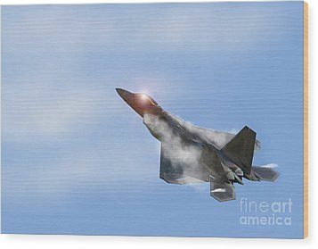 Raptor Vapour Wood Print by J Biggadike