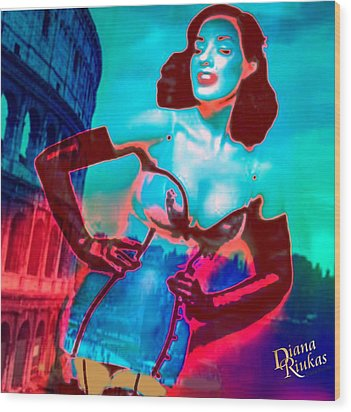 Rapturous In Rome Wood Print by Diana Riukas