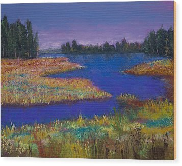 Raquette Lake Wood Print by David Patterson