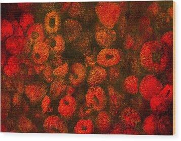 Raspberries Wood Print by Alexander Senin