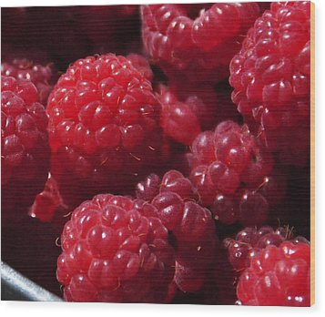 Raspberry Crave Wood Print by Elena Hasnas