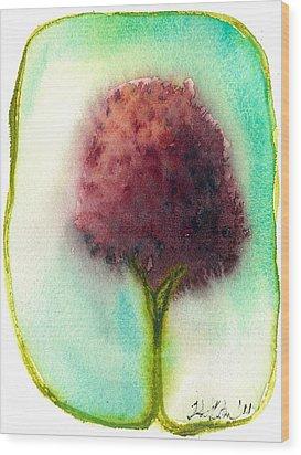 Raspberry Tree Wood Print by Hilary Slater