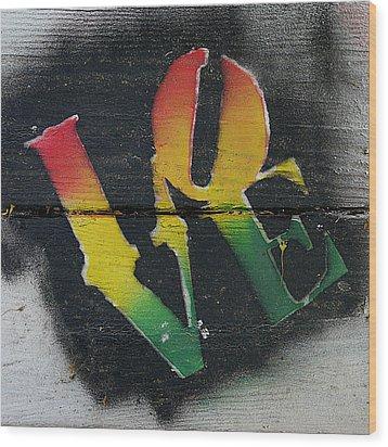 Rasta Love Wood Print by Richard Reeve