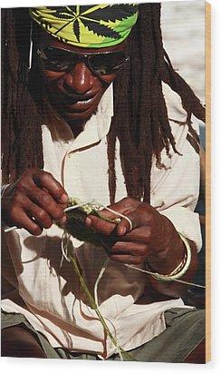 Rasta Man Wood Print by Aidan Moran