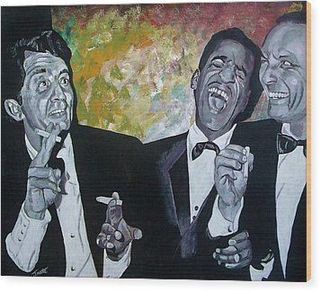 Rat Pack Wood Print by Jeremy Moore