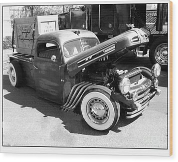 Rat Rod Hot Rod Wood Print by Kip Krause