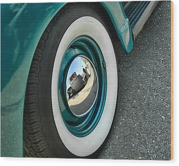 Wood Print featuring the photograph Rat Rod Reflection by Victor Montgomery