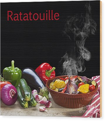 Ratatouille Concept Wood Print by Colin and Linda McKie