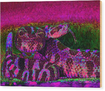 Rattlesnake 20130204m80 Wood Print by Wingsdomain Art and Photography