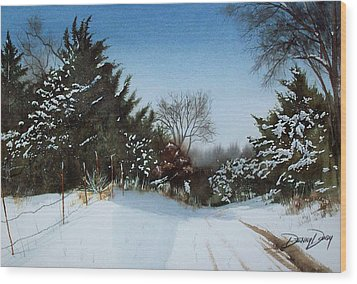 Rattlesnake Road Wood Print by Denny Dowdy