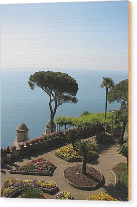 Ravello Wood Print by Carla Parris