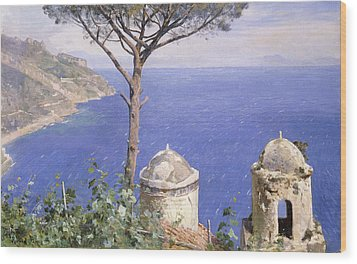 Ravello Wood Print by Peder Monsted
