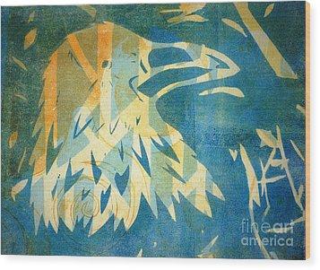 Raven Blue Wood Print