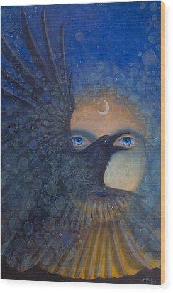Raven Heart Wood Print