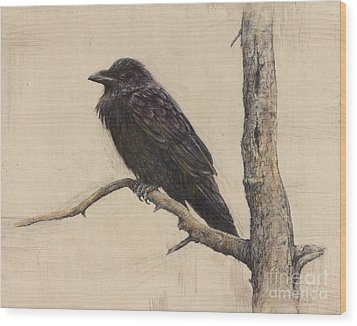 Raven Wood Print by Lori  McNee