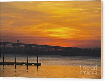 Wood Print featuring the photograph Orange Blaze by Dale Powell