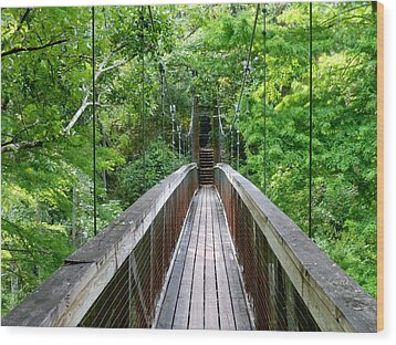 Ravine Bridge 3 Wood Print by Kay Gilley