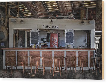 Raw Bar Wood Print