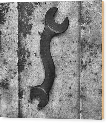 Raw Steel 2...curvatures Wood Print by Tom Druin