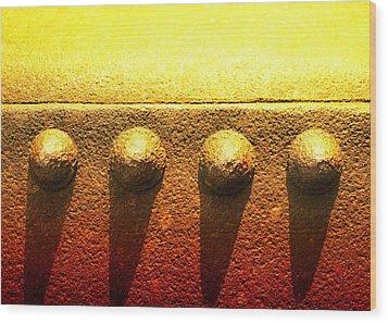 Raw Steel 4 Wood Print by Tom Druin