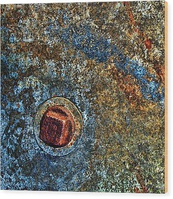 Raw Steel...negative Space Wood Print