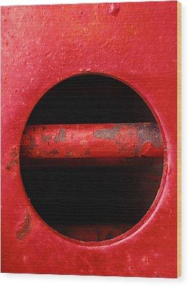 Raw Steel...vertical Wood Print