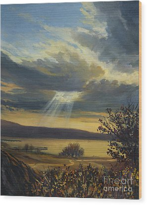 Ray Of Light Wood Print by Kiril Stanchev
