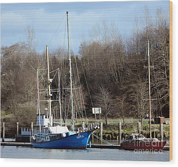 Raymond Fishing Boats Wood Print