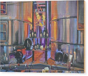 Raymond Vineyards Crystal Cellar II Wood Print by Donna Tuten