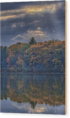 Rayons D'automne Wood Print by Jean-Pierre Ducondi
