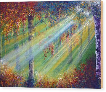 Rays Wood Print by Ann Marie Bone