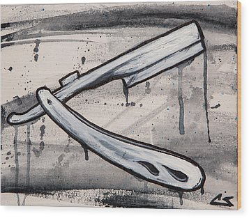 Razor Finish Wood Print by The Styles Gallery