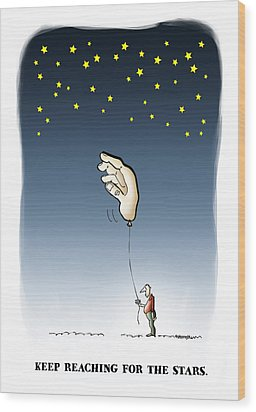 Reach For The Stars Wood Print by Mark Armstrong