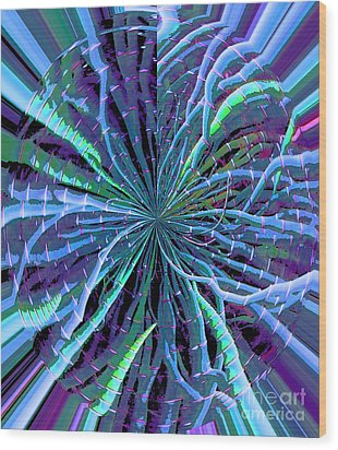 Reach Of The Bamboo Forest Wood Print by Ann Johndro-Collins