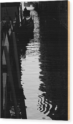 Reaching Back - Venice Wood Print
