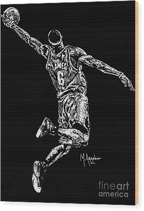 Reaching For Greatness #6 Wood Print by Maria Arango
