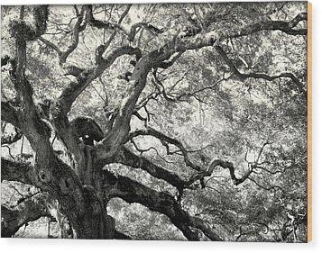 Reaching For Heaven Wood Print by Karen Wiles