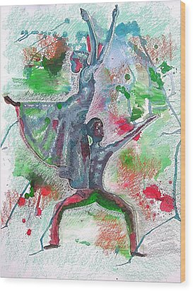 Reaching For New Heights Wood Print by Lamario Chez Jackson