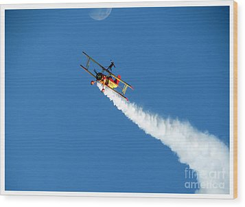 Reaching For The Moon. Oshkosh 2012. Postcard Border. Wood Print