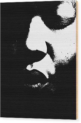 Wood Print featuring the photograph Read My Lips by Cleaster Cotton