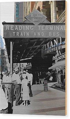 Reading Terminal Wood Print