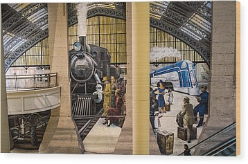 Reading Terminal Wood Print by Glenn DiPaola
