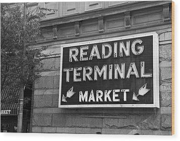 Reading Terminal Market Wood Print by Jennifer Ancker