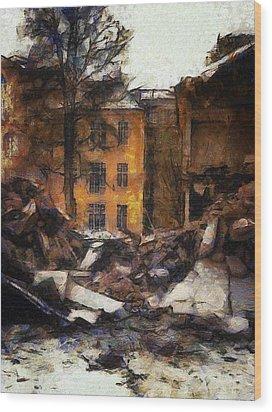 Ready For Demolition Wood Print by Gun Legler