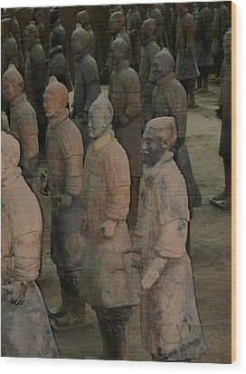Ready For Duty In China Wood Print by Will Burlingham